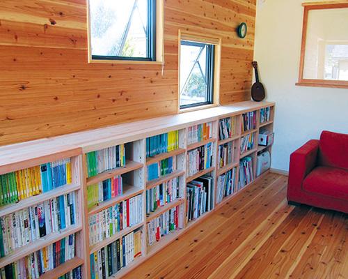 シングル書棚も