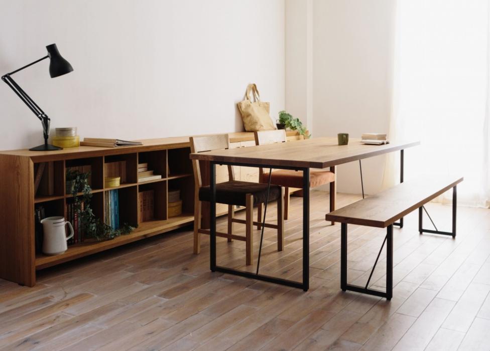 広松木工 「FREX」 スチールレッグ Dining Table